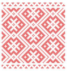Traditional russian slavic cross-stitch ornament vector