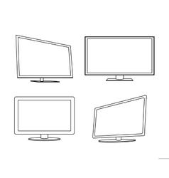 tv screen icon vector image