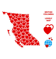 Valentine british columbia province map vector