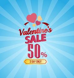 valentines day sale 50 Percent typographic vector image