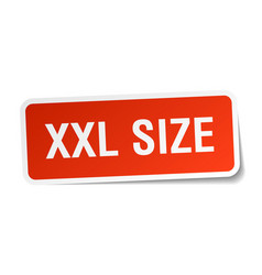 Xxl size square sticker on white vector