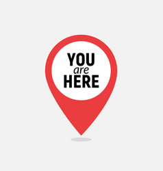 You are here sign icon mark destination or vector