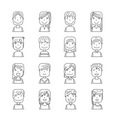Young people avatar silhouette graphic design vector image