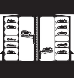 automatic car parking vector image vector image