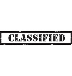 Black stamp classified vector image vector image