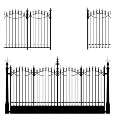 gate and fences vector image vector image