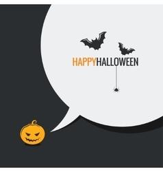Happy halloween social media design background vector image