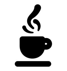 Hot beverage icon vector image