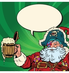 Santa Claus beer in the Irish pub vector image vector image