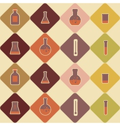 seamless background with chemical equipment vector image vector image