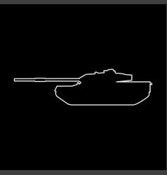 tank white color path icon vector image