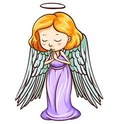 An angel praying vector image vector image
