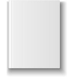 Blank book cover template on white background with vector image vector image