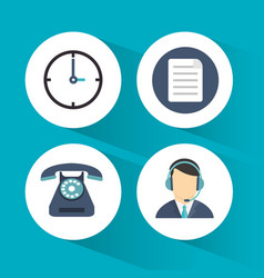call center service line vector image