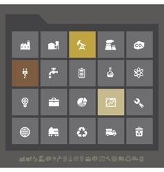 Industrial icon set vector image