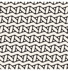 Seamless Black and White Rounded ZigZag vector image vector image