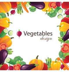 vegetables frame for your designs - vector image