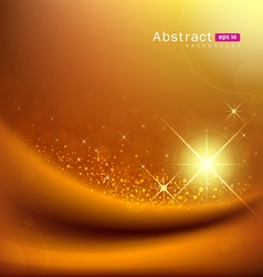 Abstract sunlight on gold silk vector image
