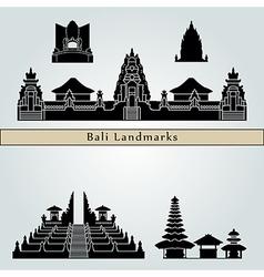 Bali landmarks and monuments vector