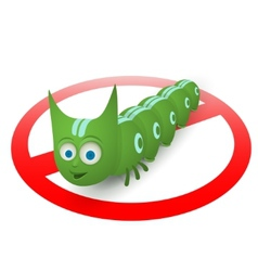 Green caterpillar pest runner vector image vector image