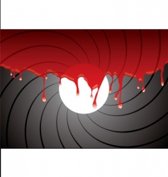 gun barrel inside blood vector image vector image