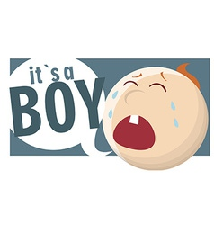 Its a boy vector image
