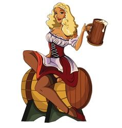 Pin-Up-Beer vector image vector image
