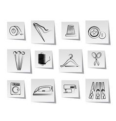 textile objects and industry icons vector image