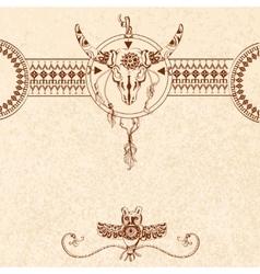 Tribal sketch background vector image