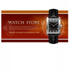 watch store card vector image vector image