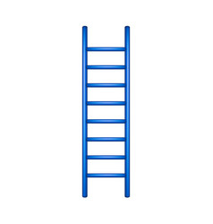wooden ladder in blue design vector image