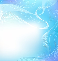 Blue music background vector image vector image