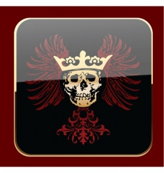 crowned skull vector image vector image