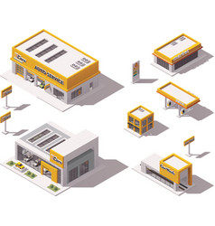road transport related buildings vector image vector image