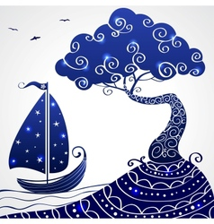 ship tree vector image