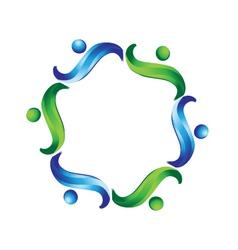 Team non profit logo vector image vector image