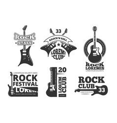 vintage heavy rock jazz band guitar shop music vector image
