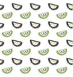 watermelon slice seamless pattern vector image vector image