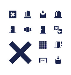 13 exit icons vector
