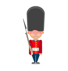 a british guardsman with a gun stands vector image