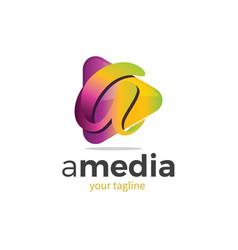 A media logo vector