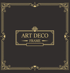 Art deco border and frame template vector