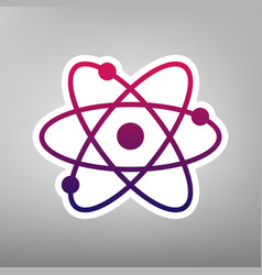 atom sign purple gradient vector image