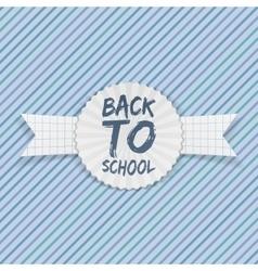 Back to School Emblem on festive Ribbon vector