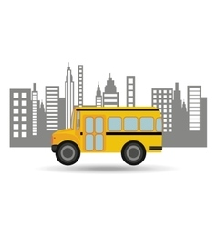 Bus school city background graphic vector