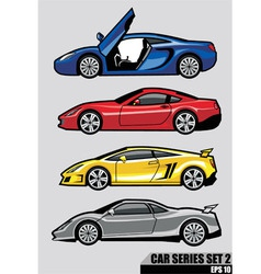 cars series set 2 vector image