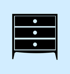 chest of drawers icon furniture types vector image