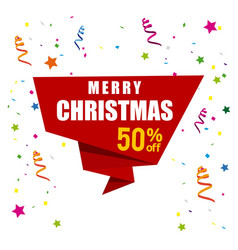 Christmas sale with white background vector