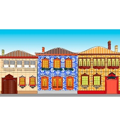 City Town Houses vector image