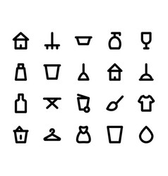 cleaning icons 2 vector image